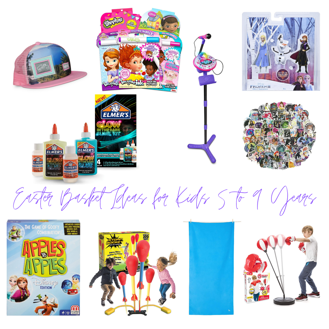 Easter Basket Ideas for Kids 5 - 9 Years Old