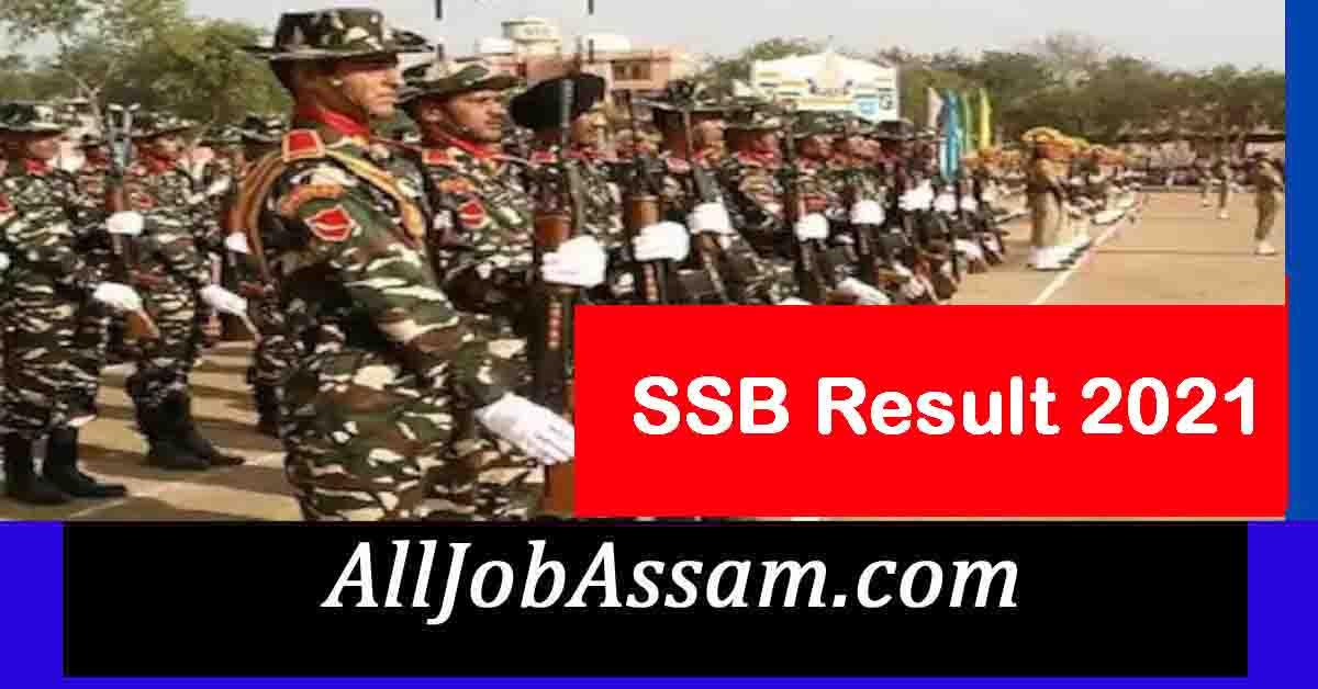 SSB Result 2021 – Head Constable (Min) Result