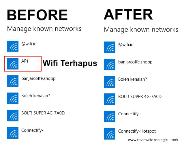 cara menghapus wifi di laptop windows 10 & 8