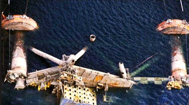alexander kielland Pengeboran minyak Lepas Pantai di Laut Utara Runtuh