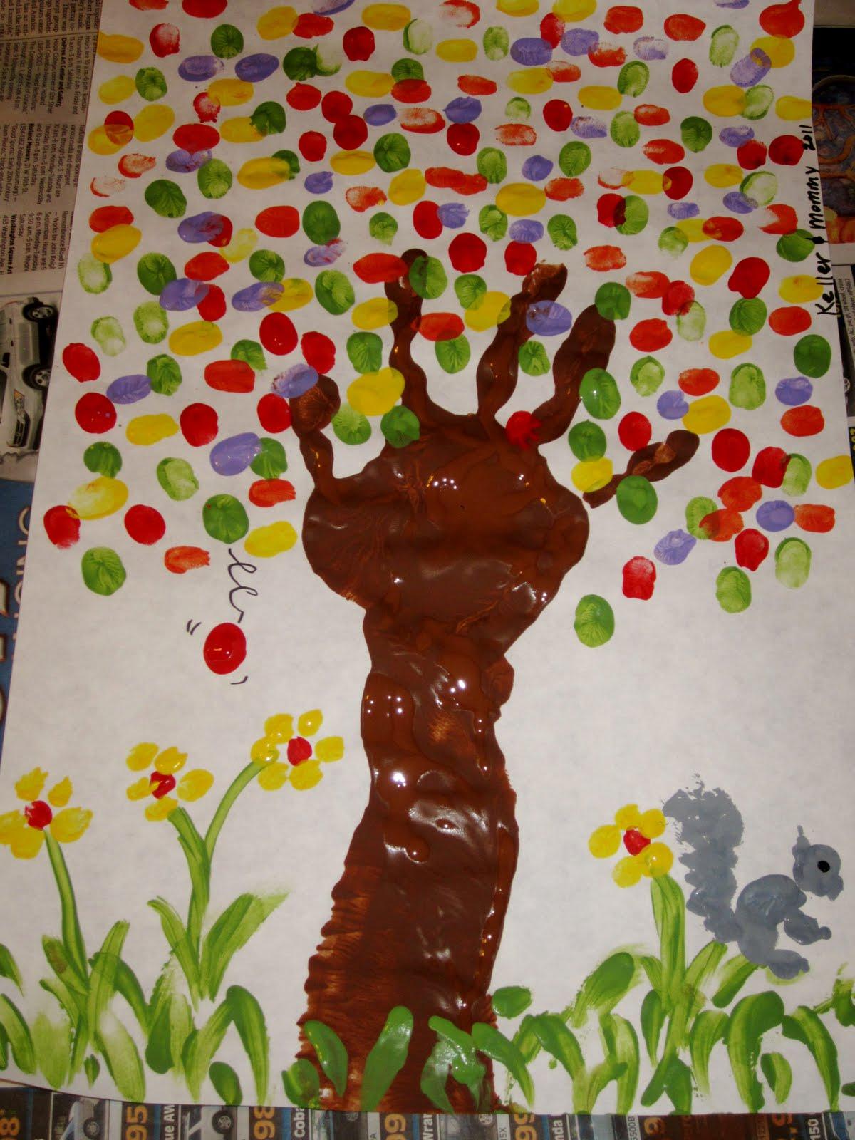 Mama Nibbles Fall Art Project