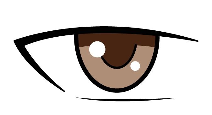 Mata laki-laki anime