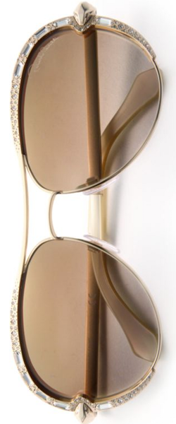 Roberto Cavalli 59MM Crystal-Embellished Metal Aviator Sunglasses