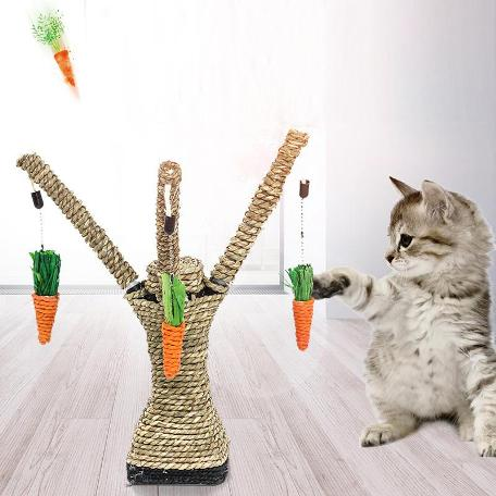Cat Scratching Post with Cat Interactive Toys
