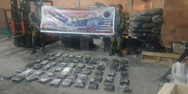 Más de dos toneladas de cocaína fueron incautadas en Sibaté