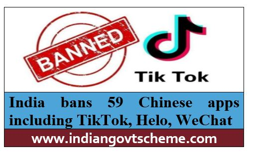India bans 59 Chinese apps