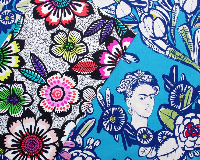 Acupulco in Black Brite - Alexander Henry De Leon Design 2016 and Cactus Flower De Leon Desing Group 1