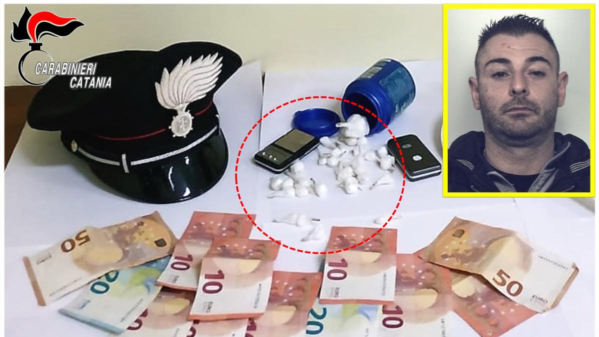 arresto pusher Riposto Carabinieri