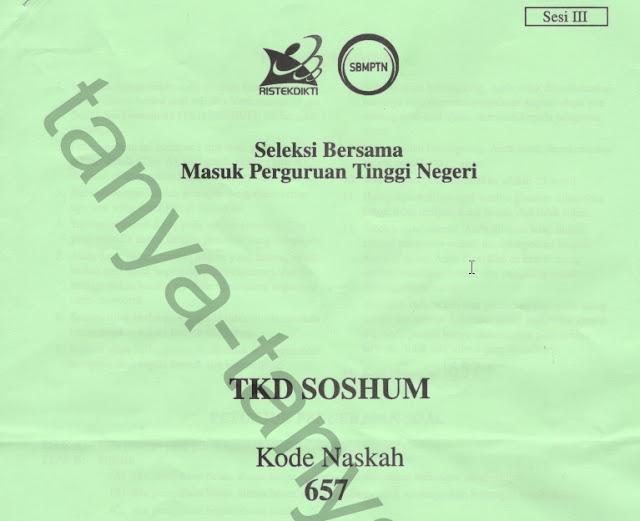 Soal Asli SBMPTN TKD Soshum 2018