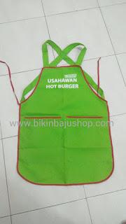 Cetakan Apron Usahawan Hot Burger
