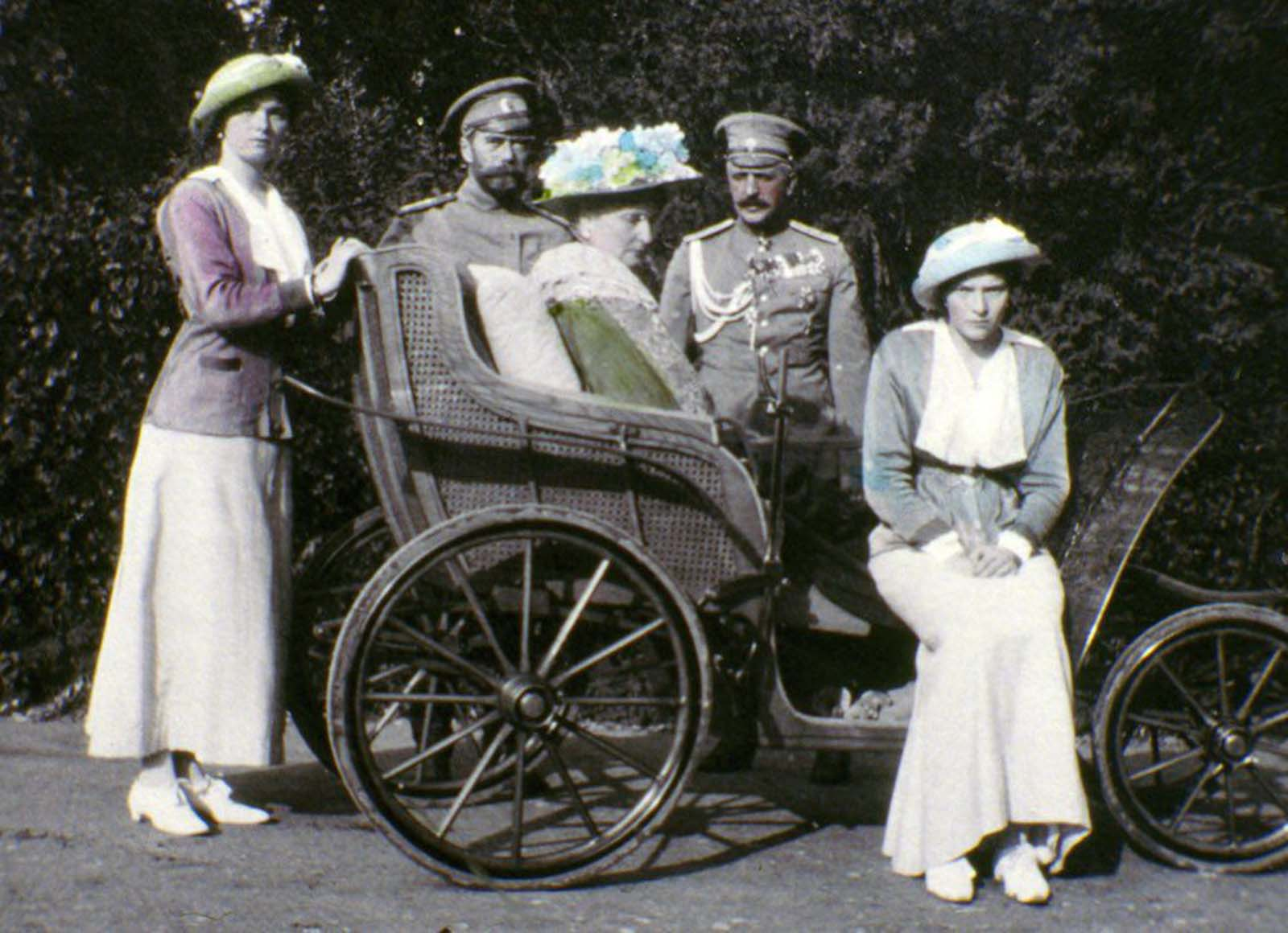 The tsar (second from left) and family.