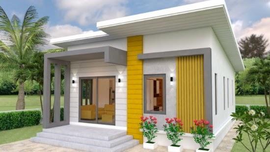Lingkar Warna 6 Desain Rumah Sederhana 2020 Dengan Bajet 100 Jutaan