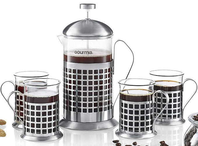 5-Piece French Press Coffee Maker Set 800 ml