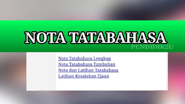 Nota tatabahasa