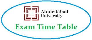 Ahmedabad University Exam Date Sheet 2021