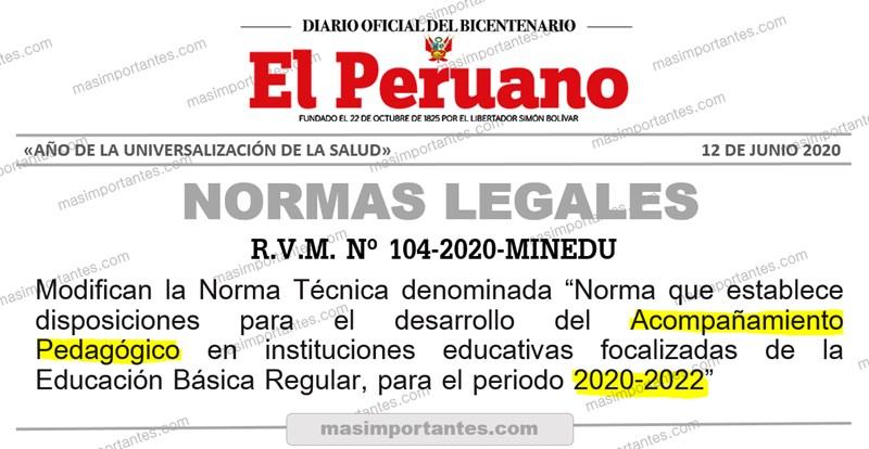 acompañamiento pedagogico 2020 2022