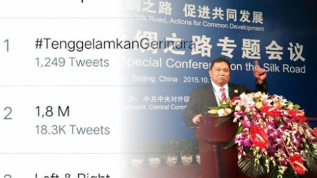 Gara-gara Arief Poyuono, #TenggelamkanGerindra Trending