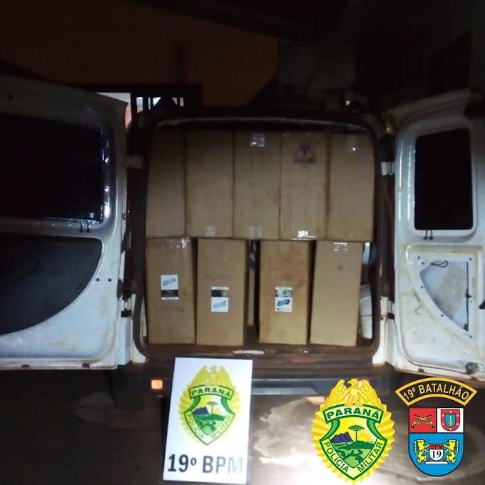 Veículo é apreendido com mais de 1800 pacotes de cigarro contrabandeados