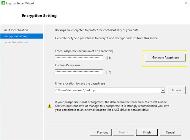 Encryption Setting
