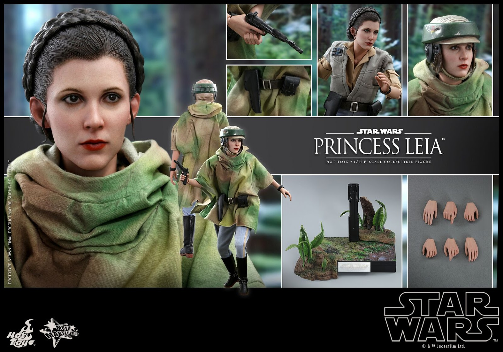 Hot Toys Star Wars Princess Leia and Wicket