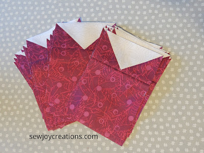 geese and square units Dazzle Quilt Sew Joy Creations