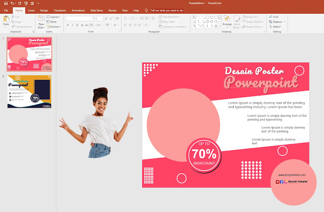 Free Poster .PPT : Download Template Poster Powerpoint 2016 Gratis