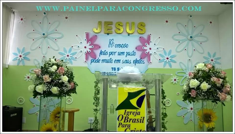 Versículo para festa da igreja - painel flutuante - kit de flores em isopor