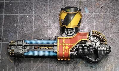 Adeptus Titanicus Legio Ignatum Warlord Titan WIP - left arm Plasma Annihilator