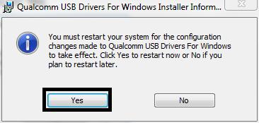 Restart for Qualcomm HS-USB DRIVER 1