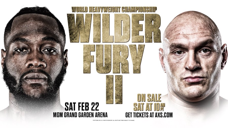 BREAKING! Tyson Fury Vs Deontay Wilder Rematch Confirmed For February 2020