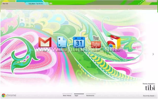 تحميل وتثبيت Google Chrome themes and backgrounds