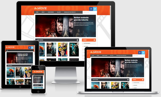 Movie Responsive Blogger Templates