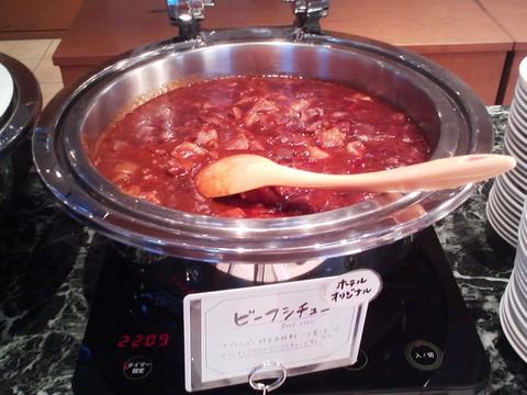 ビュッフェコーナー:ビーフシチュー オーセントホテル小樽カサブランカ