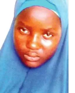 A black girl on blue hijab