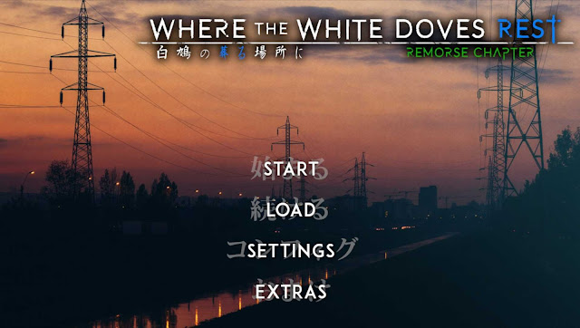 where the white doves rest game title page shows view of the city before dark