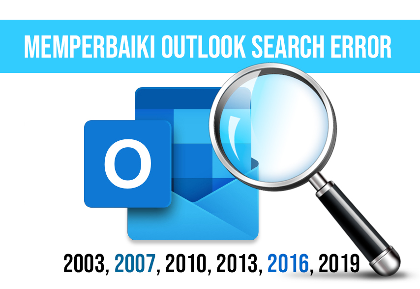 Memperbaiki outlook search error