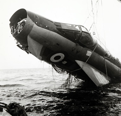 Wreckage of Captain William Schaffner RAF Lightning - Circa 1970