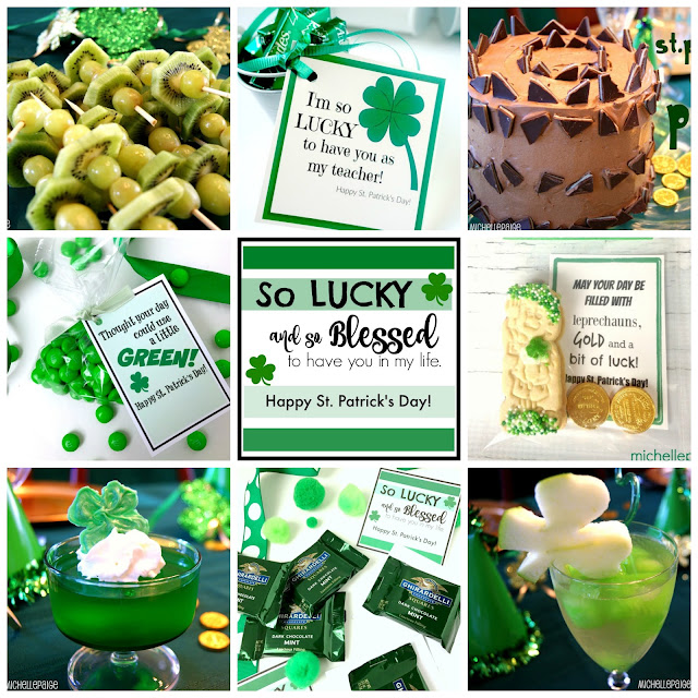 Simple St. Patrick's Day Ideas and Printables @michellepaigeblogs.com