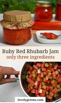 Sweet Rhubarb Jam Recipe