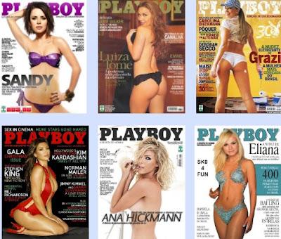 Fotos de famosas pelada nua - Capa da Playboy e Sexy