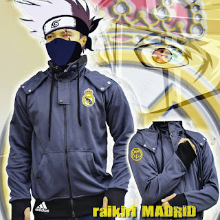 Jaket polyester real madrid