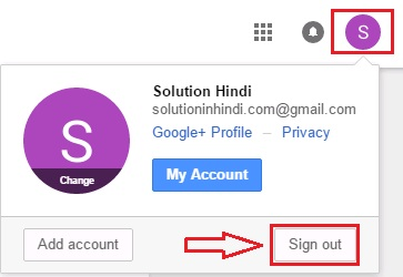 google plus account log out