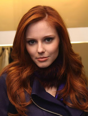 Medium red brown AUBURN- Hair Color.