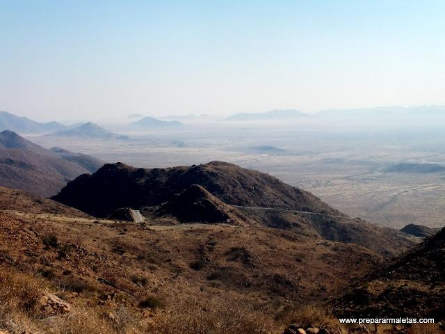 Vistas desde Spreetshoogte Pass Namibia