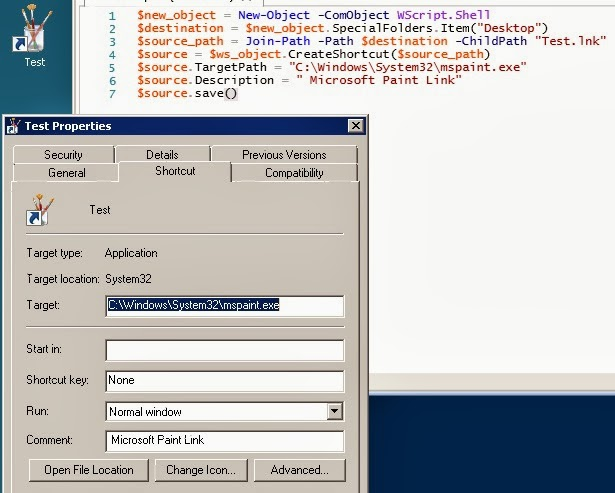 PowerShell : Create Desktop Shortcuts | IT Professional