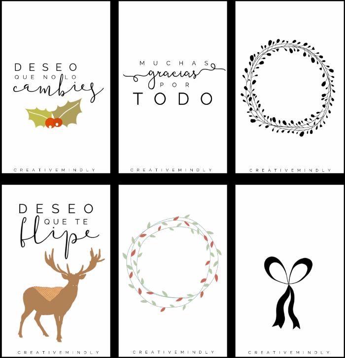 hacer etiquetas navidad bonitas