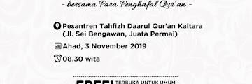 Jadwal Khataman Quran dan Kajian Dhuha Pesantren Tahfizh Daarul Quran Kaltara 20191103