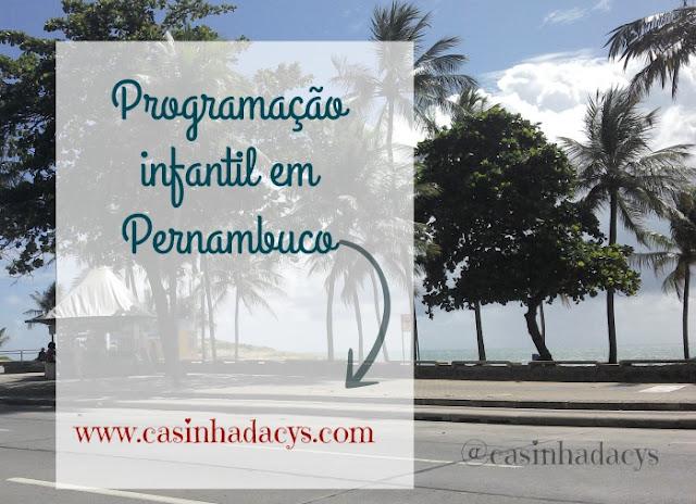 agenda com programação para criança em Recife