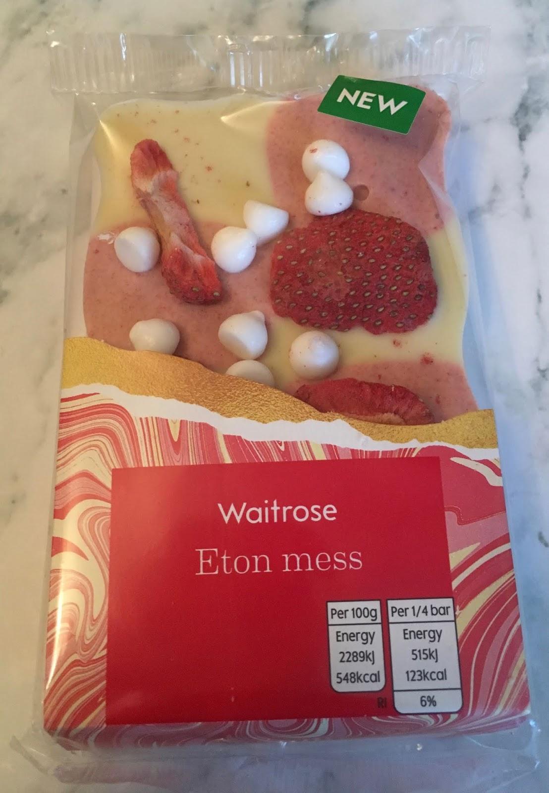 Foodstuff Finds Eton Mess Chocolate Bar Waitrose By Cinabar