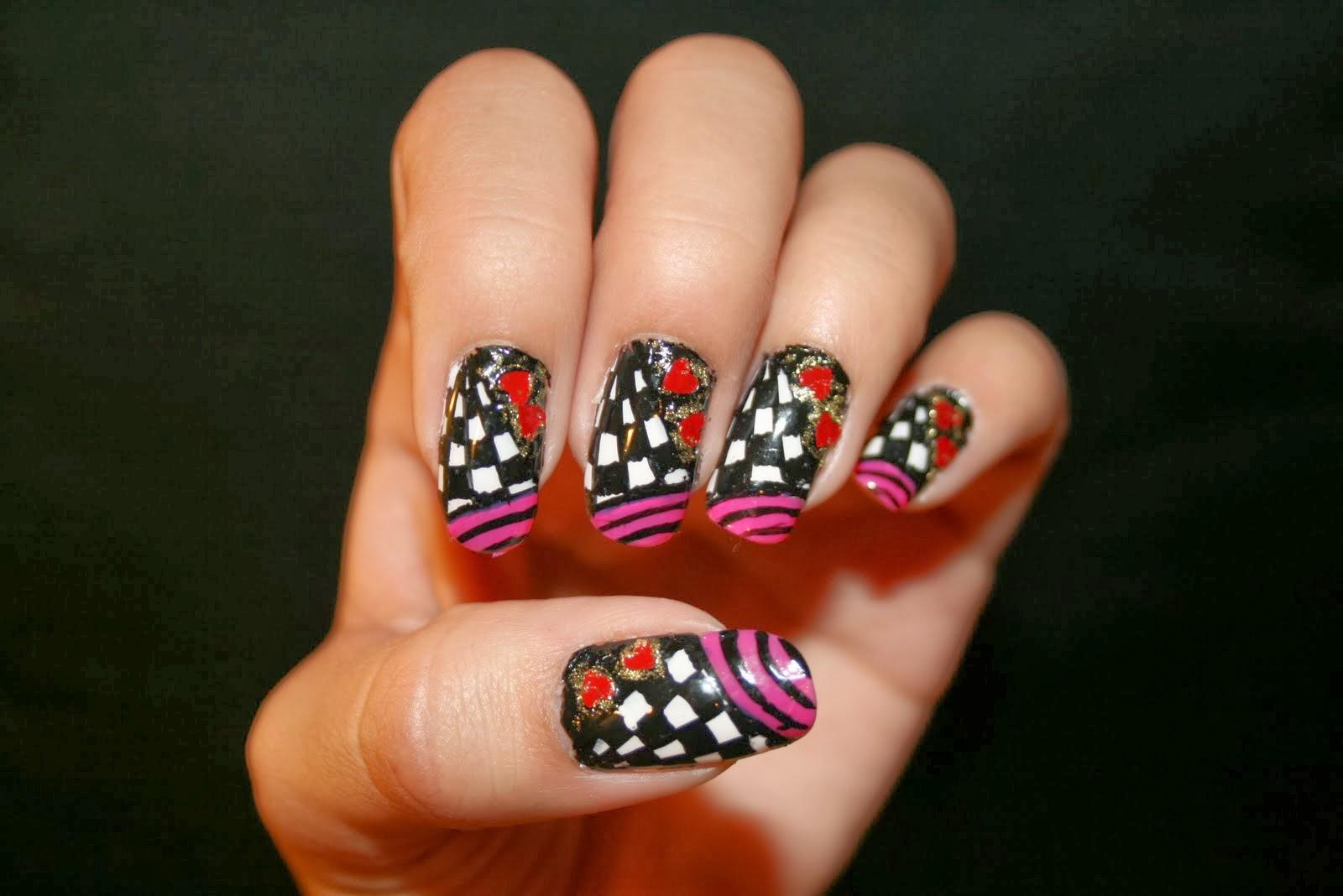 Awe-Inspiring Short Nail Design 2013   Nail Art Ideas 101